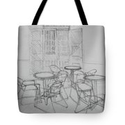 Outdoor Seating - Pirates Alley - French Quarter Tote Bag