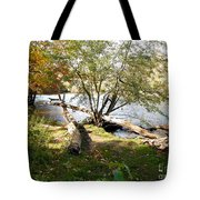 Outdoors Along The Huron River Tote Bag
