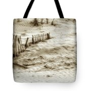 Outer Banks Beach Sand Fence  Tote Bag