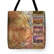 Outer Banks Lighthouse Map 3 Tote Bag