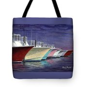 Outer Banks Line-up Tote Bag