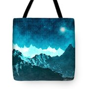 Outer Space Mountains Tote Bag