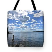 Outhaul On An Island In Casco Bay Maine  Tote Bag