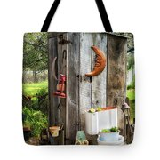 Outhouse In The Garden Tote Bag