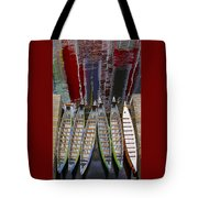 Outrigger Canoe Boats And Water Reflection Tote Bag by Ben and Raisa Gertsberg
