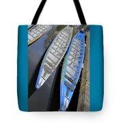 Outrigger Canoe Boats Tote Bag