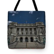 Outside The Library Of Congress Tote Bag