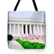 Outside The Lincoln Memorial Tote Bag
