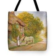 Outside The Village Inn Tote Bag