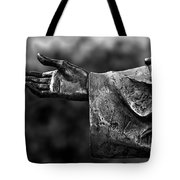 Outstreched Hand B-w Tote Bag
