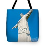 Outstretched Arms Of Christ The Redeemer Icon On Corcovado Mountain In Rio De Janeiro-brazil  Tote Bag