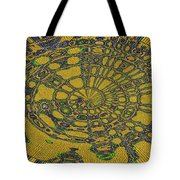 Oval Abstract Maple Leaf  Tote Bag