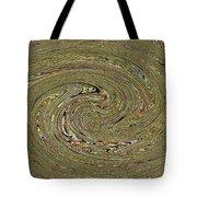 Oval Abstract Panel 6150-5 Tote Bag