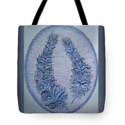Oval With Two Tangled Feathers Tote Bag