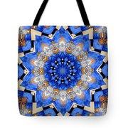 Ovarian Cancer Awareness Mandala Tote Bag