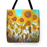 Ovation Sunflowers Tote Bag