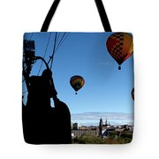 Over Auburn And Lewiston Hot Air Balloons Tote Bag