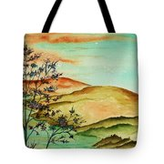 Over Orange Hills Tote Bag