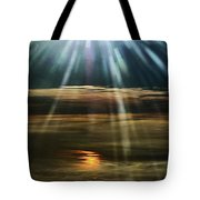 Over Rivers Of Gold Tote Bag