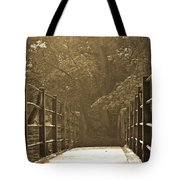 Over The Bridge Tote Bag by Brian Roscorla