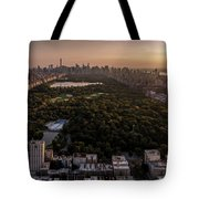 Over The City Central Park Tote Bag