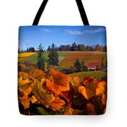 Over The Durant Vineyards Tote Bag