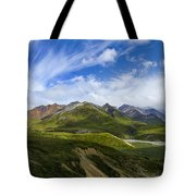 Over The Glaciers Tote Bag