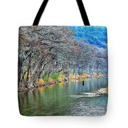 over the Guadalupe Tote Bag
