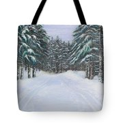 Snow Tracks Tote Bag