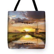 Over The Mills Tote Bag