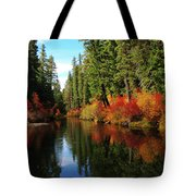 Over The Mountains And Thru The Trees Tote Bag