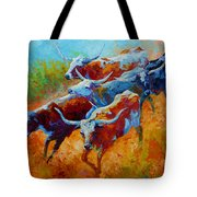 Over The Ridge - Longhorns Tote Bag