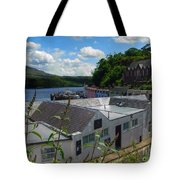 Over The Rooftops At Portree Tote Bag