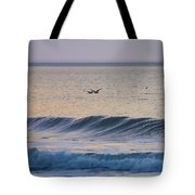 Over The Waves Tote Bag