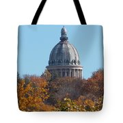 Over The Tree Tops Tote Bag