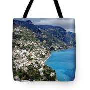 Overall View Of Part Of The Amalfi Coast In Italy Tote Bag