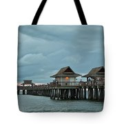 Clouds Over The Naples Pier Tote Bag