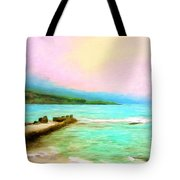 Overcast Sunset At Napoopoo Beach Park Tote Bag