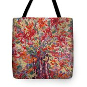 Overflowing Flowers. Tote Bag