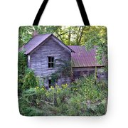 Overgrown Abandoned 1800 Farm House Tote Bag