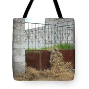Overgrown Rusted Gate Tote Bag