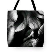Overlap-black And White Tote Bag