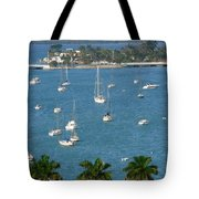 Overlooking A Miami Marina Tote Bag
