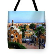 Overlooking Barcelona From Park Guell Tote Bag