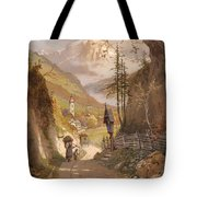 Overlooking Ramsau Bei Berchtesgaden Tote Bag