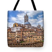 Overlooking Siena And The Duomo Tote Bag