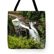Overlooking Snoqualmie Falls Tote Bag