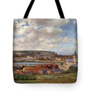 Overlooking The Town Of Dieppe Tote Bag