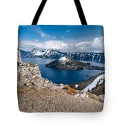 Overlooking Wizard Island In Spring Tote Bag