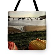 Overturned Boats On Shore Of Harbor Tote Bag